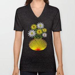 String Art Flowers Unisex V-Neck