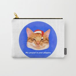 Funny cat — My present in your slippers Carry-All Pouch