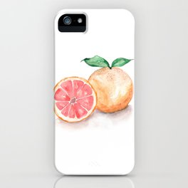 Watercolour Grapefruit iPhone Case