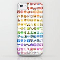 Emoji icons by colors Slim Case iPhone 5c
