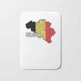 Patriotic Belgium Flag Belgian Patriotism Nationalism Bath Mat