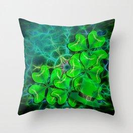 clover and kaleidoscope Throw Pillow