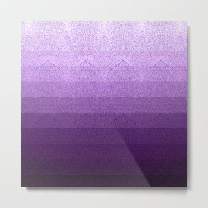 geometric pattern purple, pink and black Metal Print