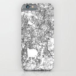 Kuala Lumpur White Map iPhone Case