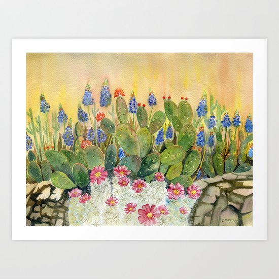 Cactus Garden by mellyterpening