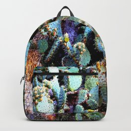 Invasion of colorful Cactus green blue red Backpack
