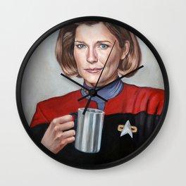 Captain Janeway - Portrait Painting Wall Clock