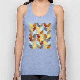Retro 70s Color Palette Leaf Pattern Unisex Tank Top