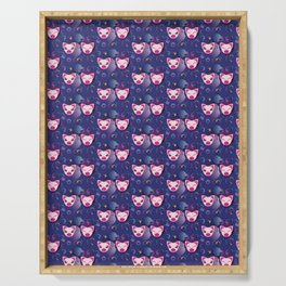 Decorative pattern design with cute pig Serving Tray