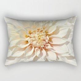 Dahlia white macro 043 Rectangular Pillow