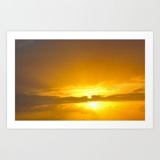Sunset Over the Atlantic Art Print