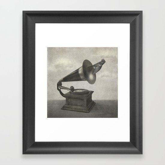 Vintage Songbird (mono)  Framed Art Print