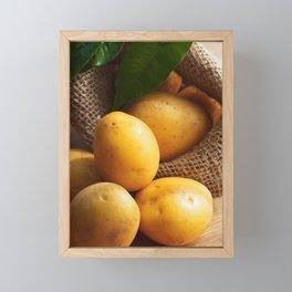 Farmer potato for your Design in the kitchen Framed Mini Art Print