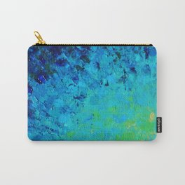 TRUE REFLECTION - Ocean Water Waves Ripple Light Impressionist Bright Colors Ombre Painting Carry-All Pouch