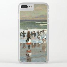 Winslow Homer - Beach Scene, 1869 Clear iPhone Case