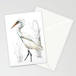 Mr Kotuku , New Zealand White Heron Stationery Cards