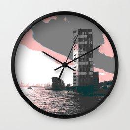 hamburg harbour Wall Clock