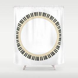 Pianom Keys Circle Shower Curtain