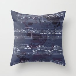 "Sheet Music - Debussy's ""Childrens Corner"" (Doctor Gradus ad Parnassum) Throw Pillow"