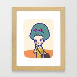 Thinking girl  Framed Art Print