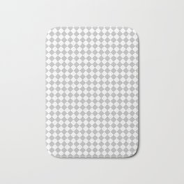 White and Gray Diamonds Bath Mat