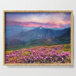 Blooming mountains Serving Tray