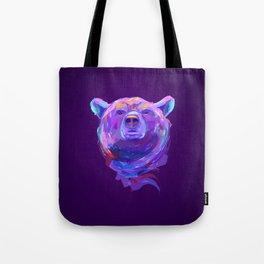 Neon Bear Tote Bag