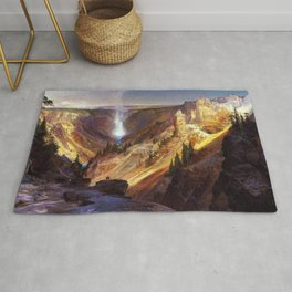 The Grand Canyon of the Yellowstone by Thomas Moran Rug