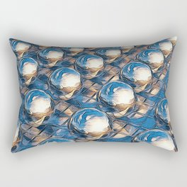 Abstract Spheres In A Row Rectangular Pillow