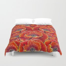 Big red poppies Duvet Cover