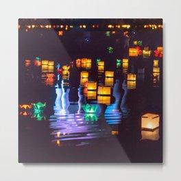 Festival of water lights Metal Print