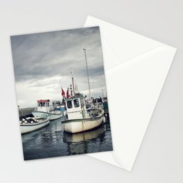 Harbored Fisher Boats Stationery Cards