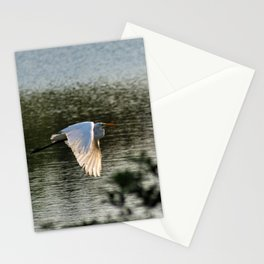 Great Egret in Flight Stationery Cards