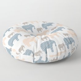 Pink and Blue Kids Elephants Silhouette Seamless Floor Pillow
