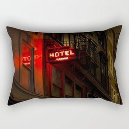 Neon Hotel Rectangular Pillow