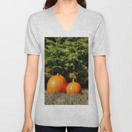 Pumpkins! Unisex V-Neck