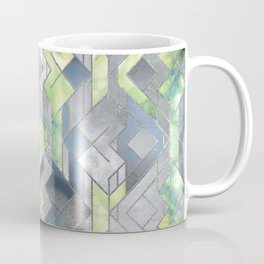 Geometric Translucent Agate and Mother of pearl Coffee Mug
