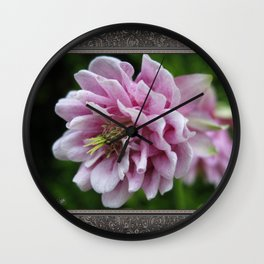 Double Columbine named Pink Tower Wall Clock
