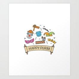 Happy Purim Everybody Art Print