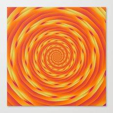 Orange Vortex Canvas Print