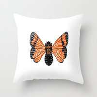 moth Throw Pillows featuring Moth by Eric Weiand