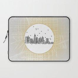 Atlanta, Georgia City Skyline Illustration Drawing Laptop Sleeve