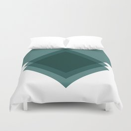 Modern Geometric Art Deco Emerald Duvet Cover