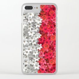 Boundary Flowers Clear iPhone Case