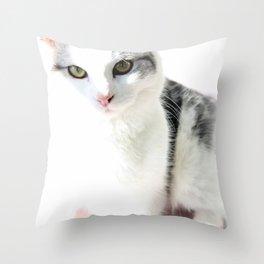 Cloud Cat Throw Pillow