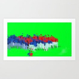 Benches cleared Art Print