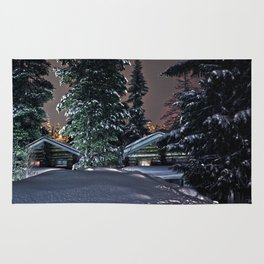 Winter in Lapland Finland  Rug