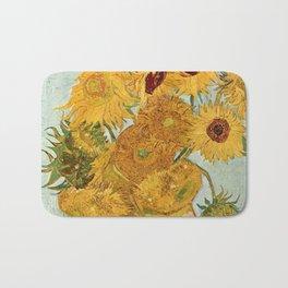 Van Gogh - sunflowers Bath Mat