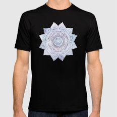 DEEP PURPLE MANDALA Black Mens Fitted Tee MEDIUM