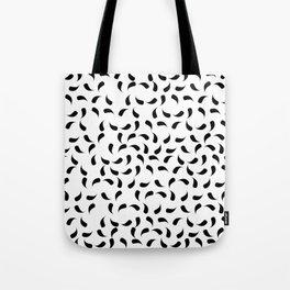 Black and White Modern Tear Drop Pattern Tote Bag